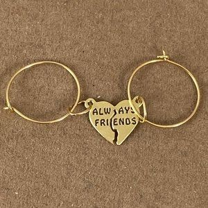Eye 4 Jewelry Accessories - 14K  Always Friends to share with Hoop Earrings